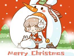 MERRY CHRISTMAS 圣诞贺图+贴纸