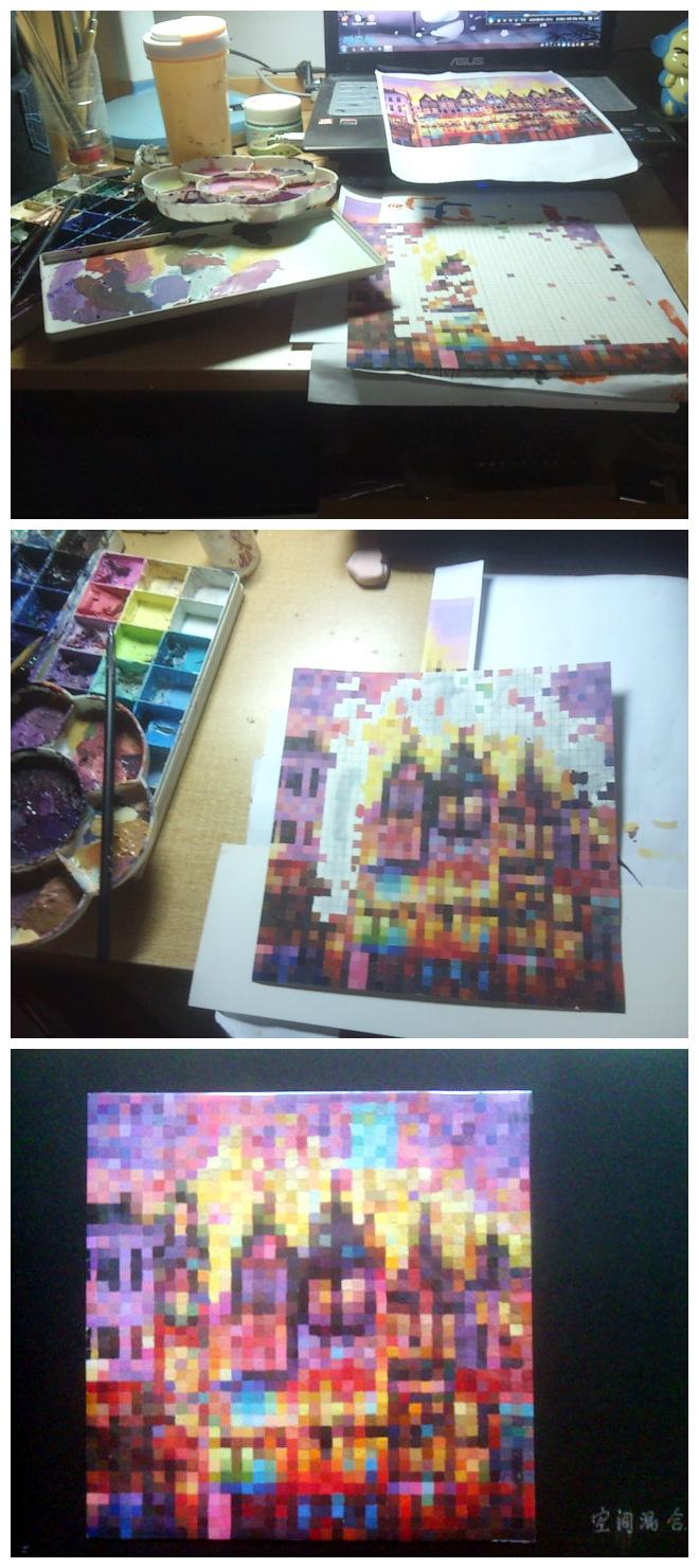 色构空间混合作业图片
