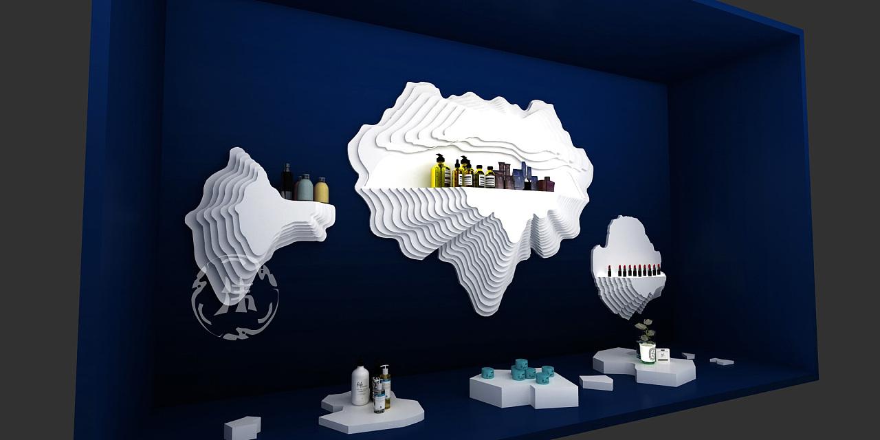 化妆品展台设计|海洋|展示设计|Z11321380-原空间环保v海洋海报设计图片