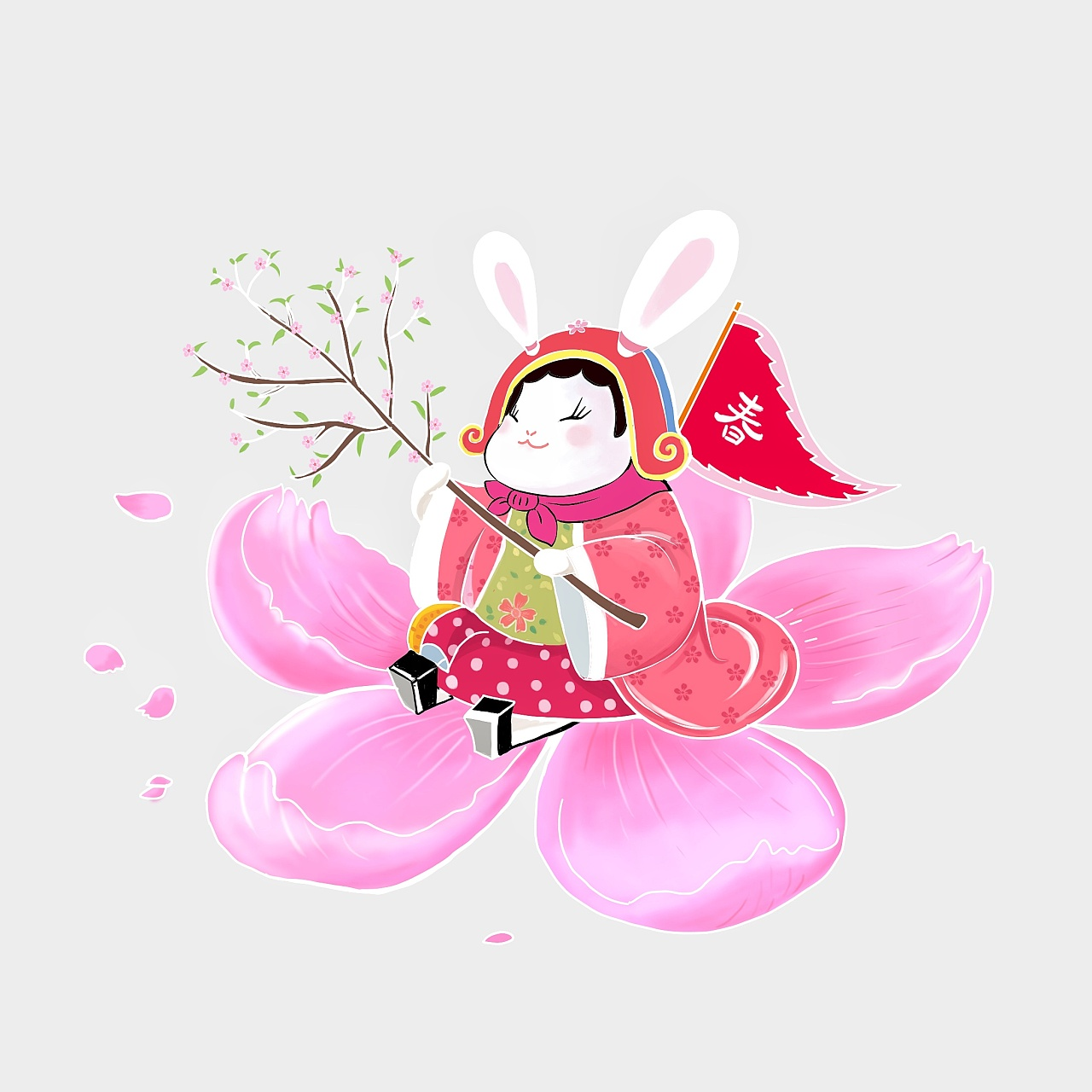 兔爷图片手绘怎么涂色
