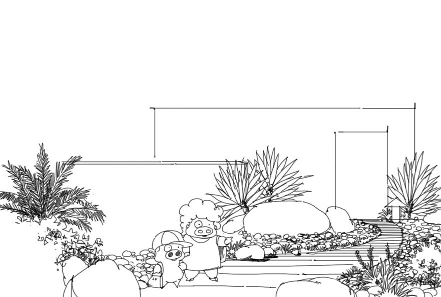 景观小景手绘(麦兜乱入ing)|园林景观/规划|空间