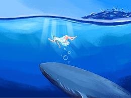插画练习——海底系列