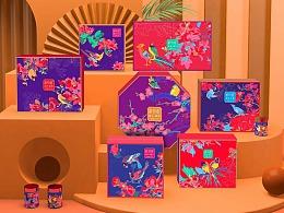 巨灵:北京鲜物道坚果国潮风礼盒设计