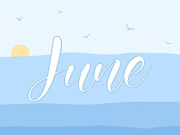 iPad Lettering NO.3 - Summer