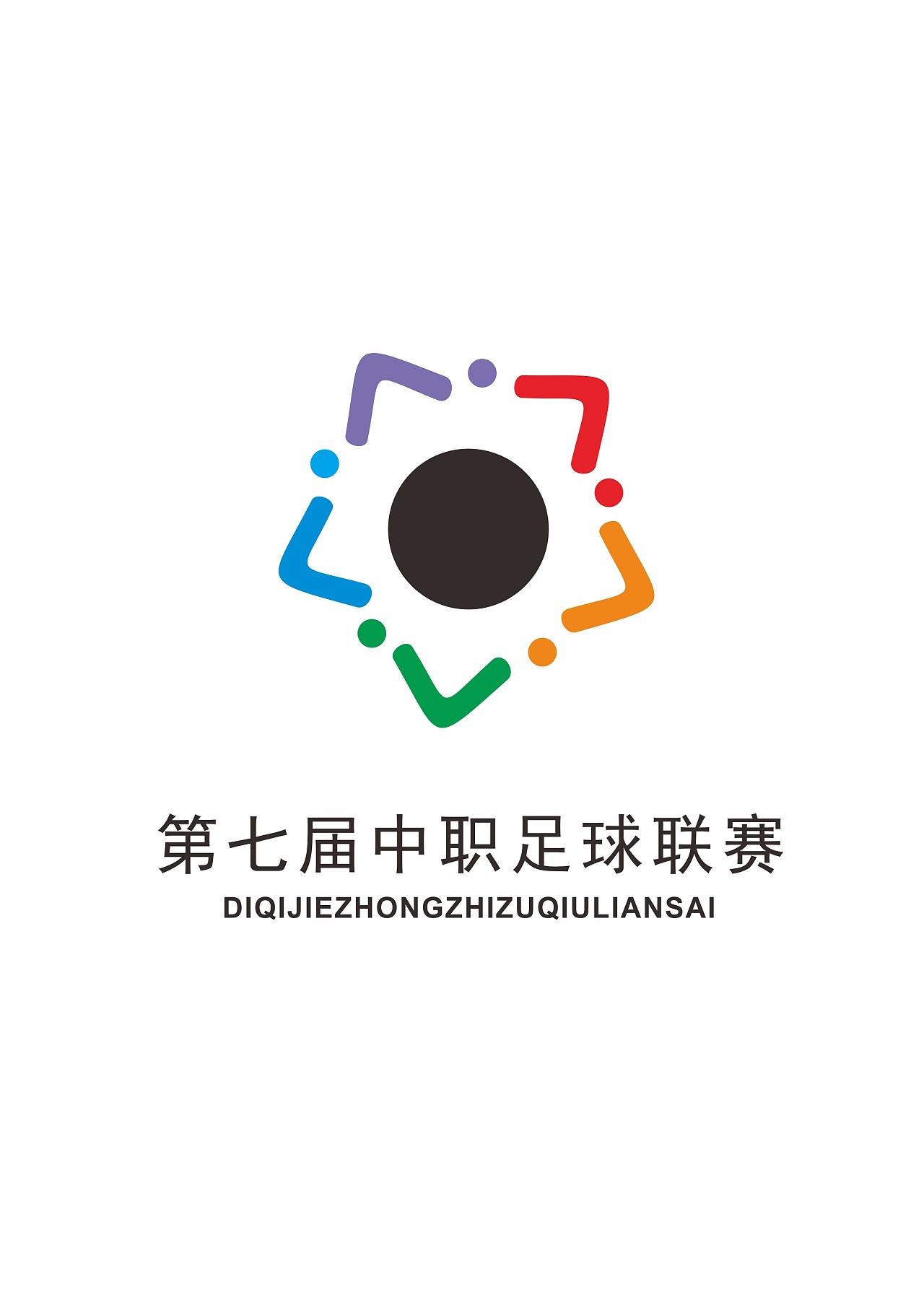logo是用数字7作点变形,以环绕中间的圆