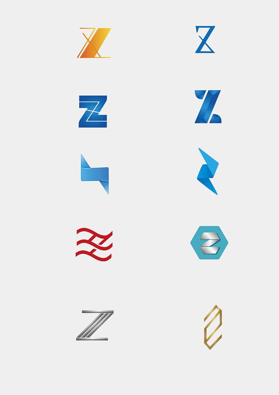 关于z字母的logo设计图片