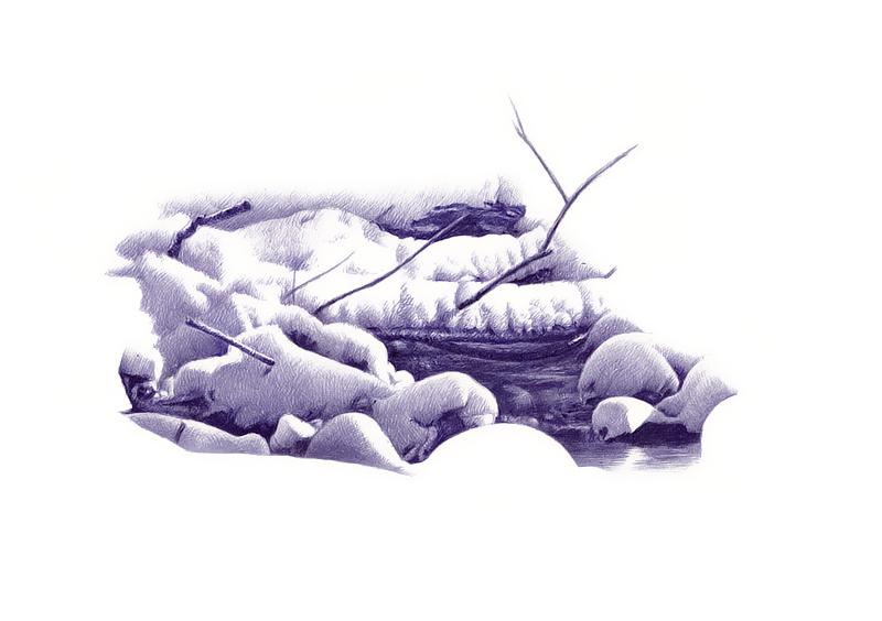 """oy手绘:""""冰山一角"""".1/25"""