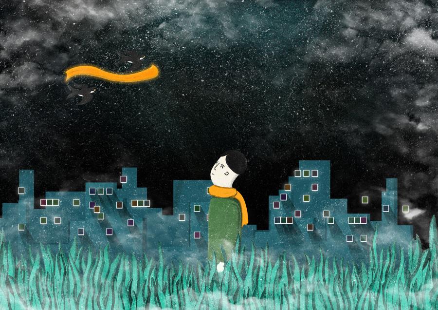 感恩父母《透明尘埃》|其他绘画|插画|忐忑心中
