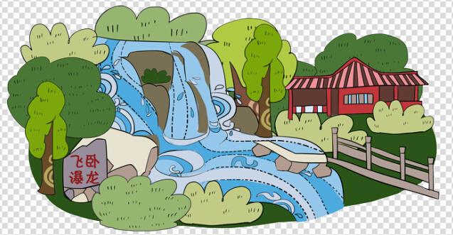 花溪公园的手绘地图,喜欢的朋友可以联系我