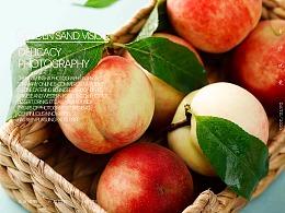 桃子、水果拍摄、电商产品拍摄