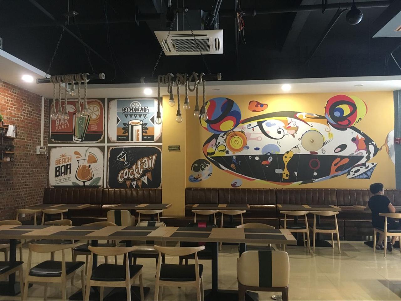 西餐店|其他|墙绘/立体画|懿轩手绘墙 - 原创作品