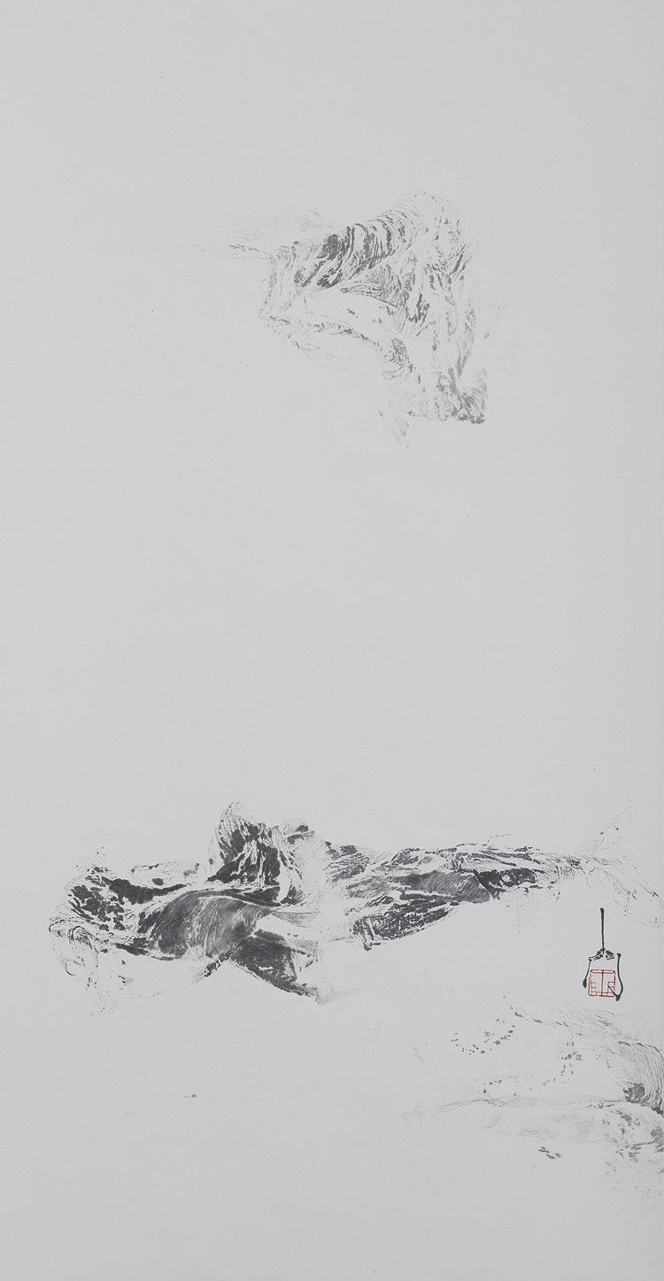 国画 禅意山水画 器世界 国画青年艺术家手绘原稿 禅宗艺术