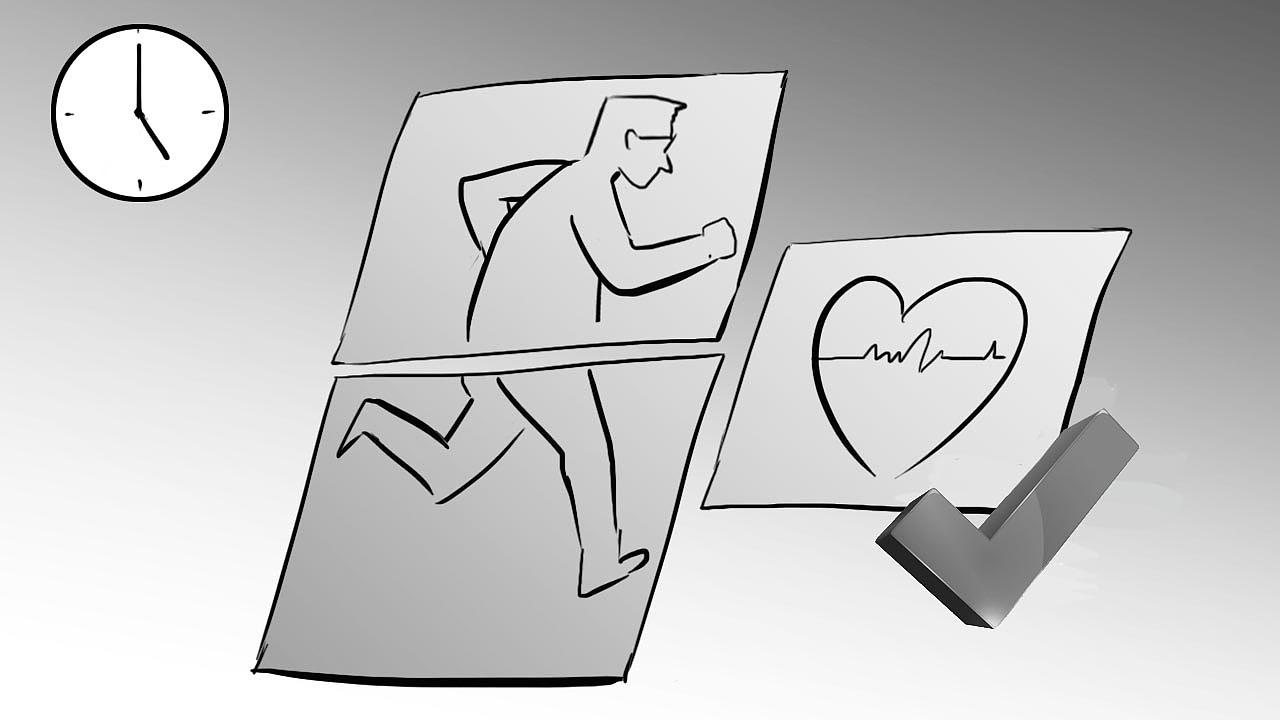 健康手绘画作品