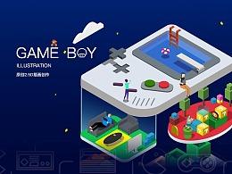 2.5D插画——GAME BOY