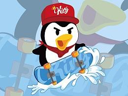 嘻哈帝企鹅--腾讯王卡形象征集设计
