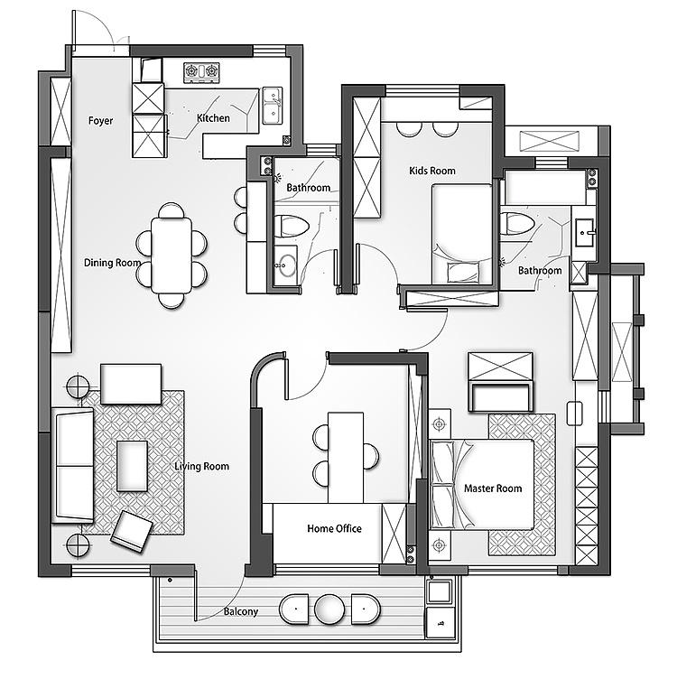 轻奢设计之美 房屋 室内设计 壹零生活-原创作2018设计图农村空间自建新图片