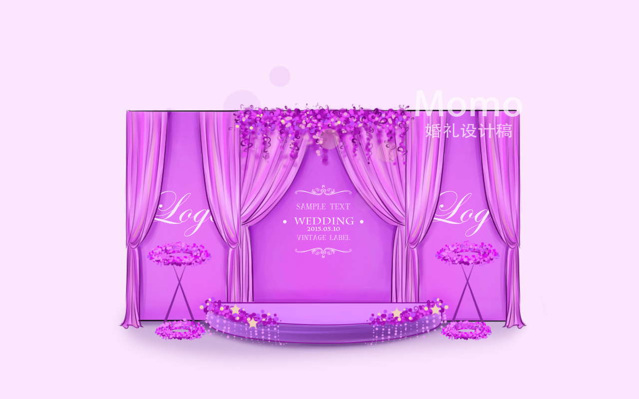 婚礼手绘图|空间|室内设计|momo瞎花花 - 原创作品