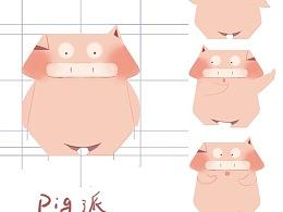 微博IP贴纸设计-pig猪