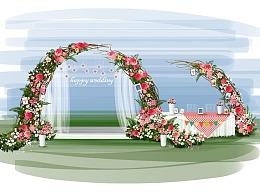 婚礼设计之手绘