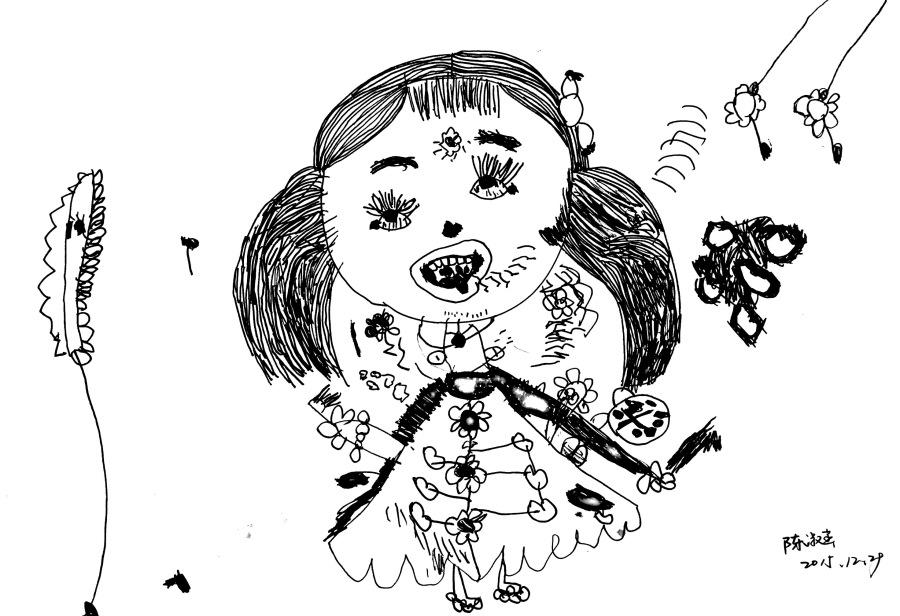 三岁半到四岁小孩的绘画成长记录--一步一个脚图片