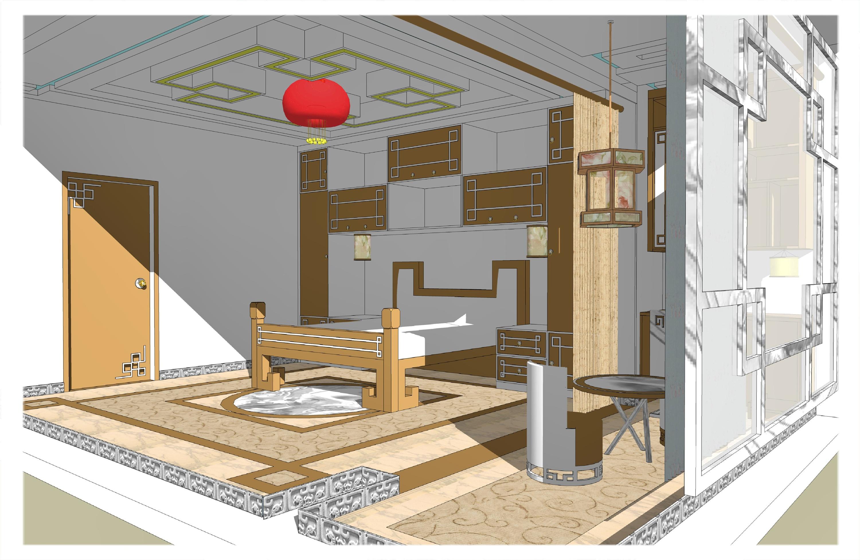 整体卧室古风橱柜设计图片