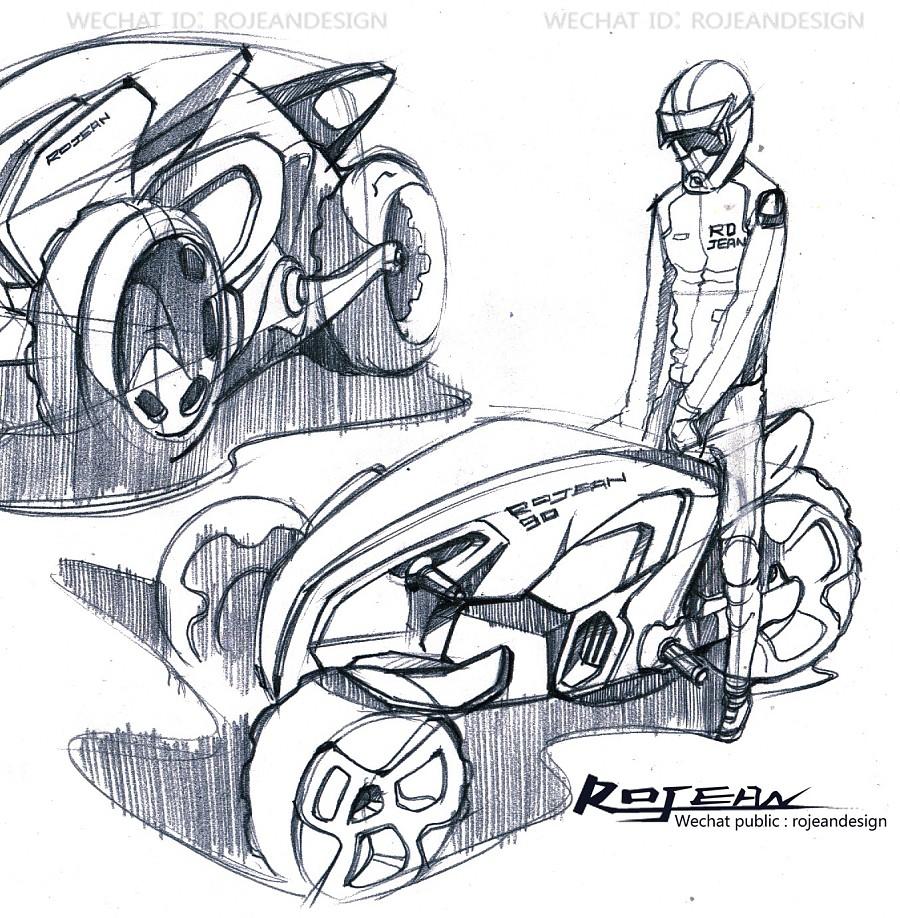 交通工具设计手绘过程-沙滩车|交通工具|工业/产品