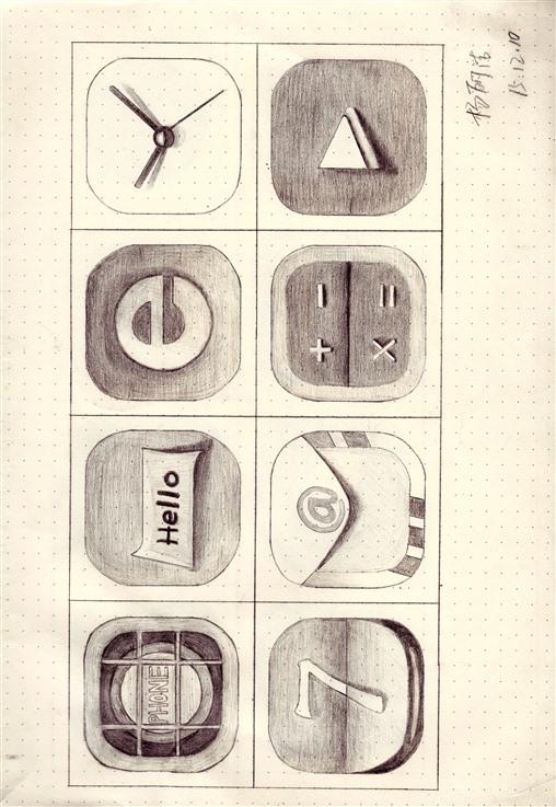app手绘图标|图标|ui|woshi饼干老师 - 原创设计作品