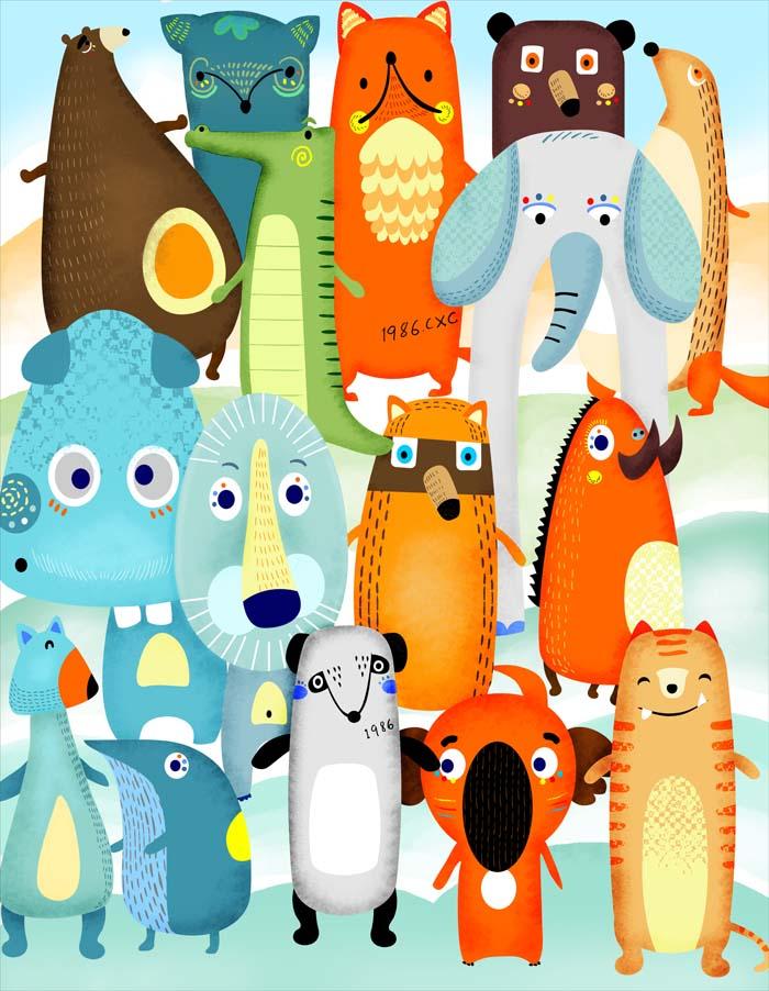动物卡通形象设计之青丛林兽|图形/图案|平面|熊熊