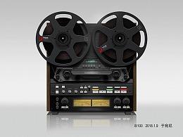 写实录音机图标