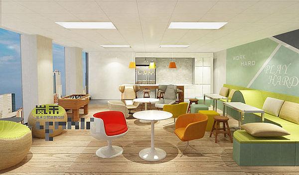 电子办公室装修设计案例效果图|金融|室内设计|室交通灯的空间设计图图片