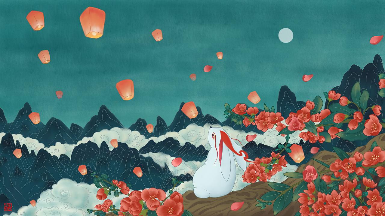《中国神怪》系列插画作品——讹兽