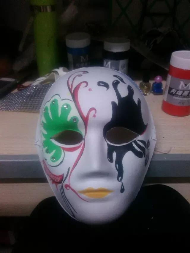 儿童面具制作步骤儿童手工制作面具万圣节面具制