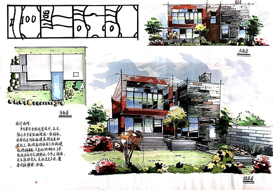一些手绘快题|建筑设计|空间/建筑|summer刘 - 原创