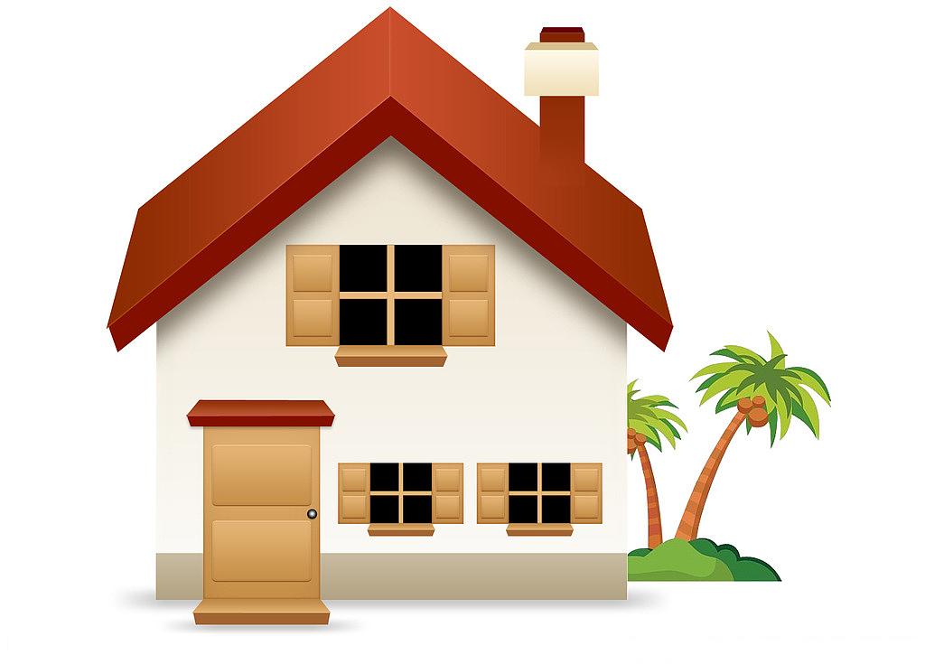 布贴画房屋-房子