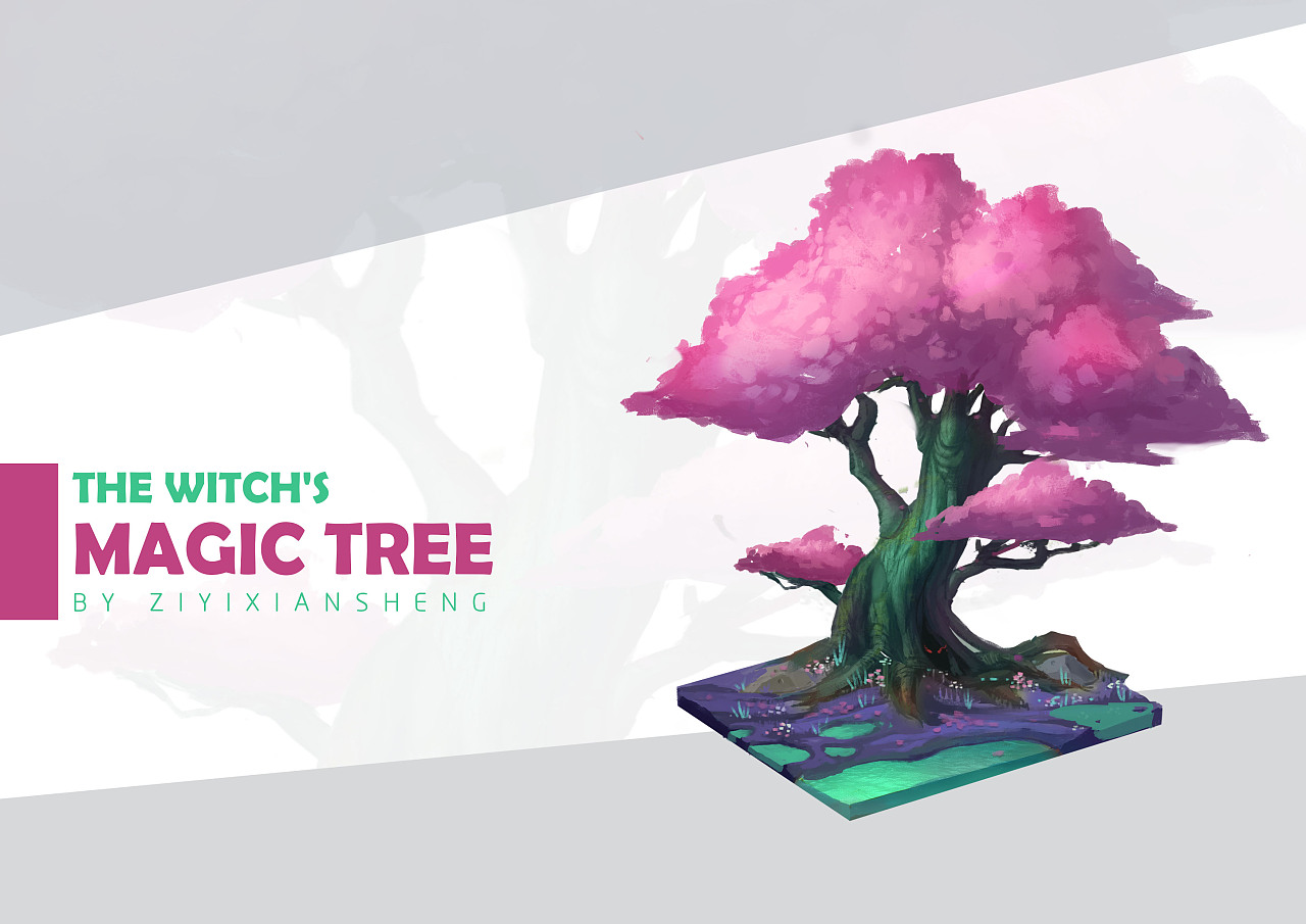 the witch's secret garden and magical plants