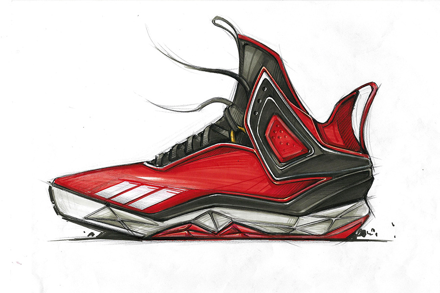马克笔运动鞋手绘表达|工业/产品|生活用品|维晶正方