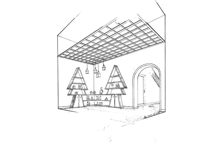 幼儿园设计的手绘图(线稿)|室内设计|空间/建筑|三水