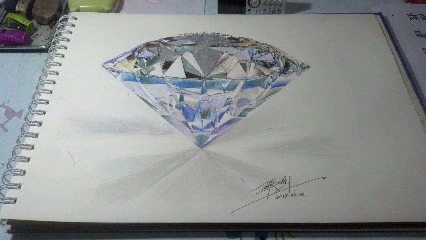 临摹 彩铅 《钻石》