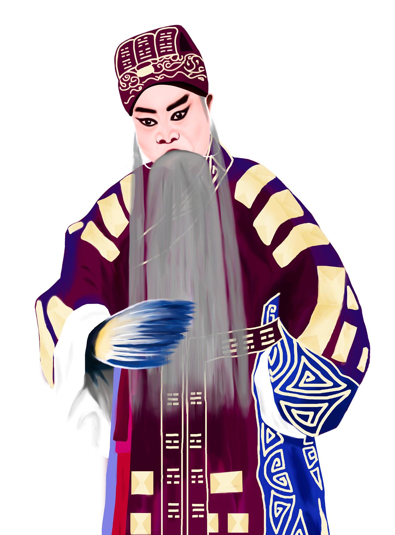 秦腔戏曲人物绘画-诸葛亮图片