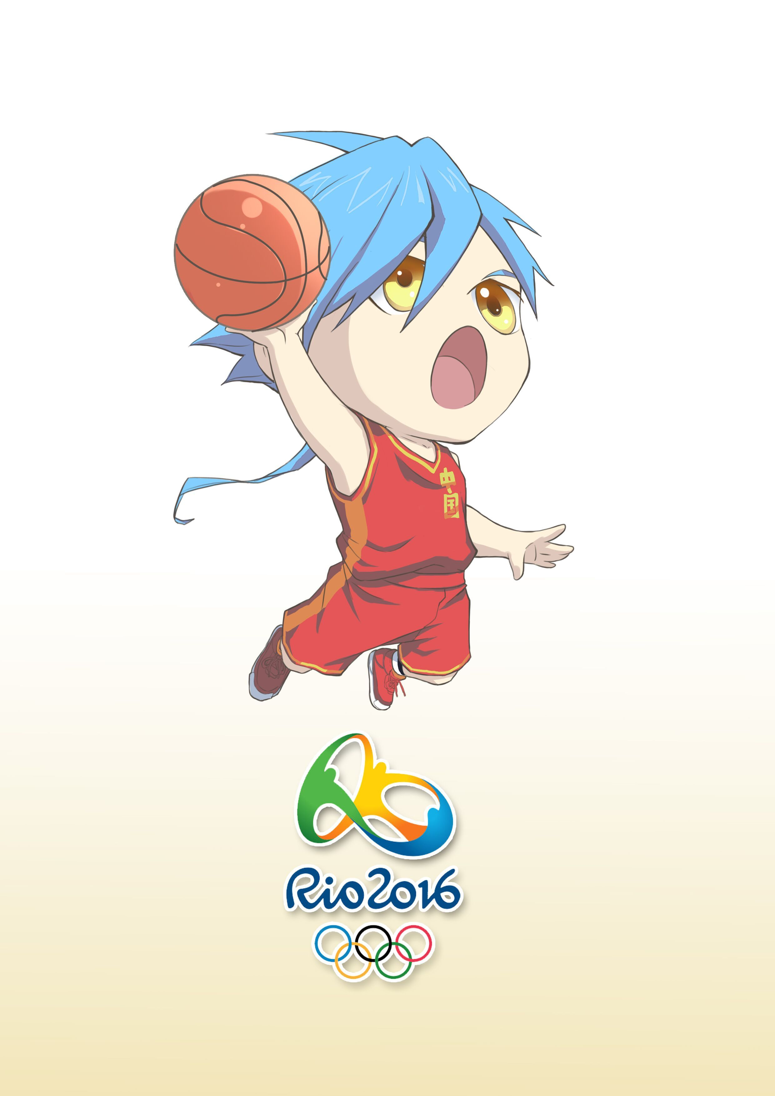 q版篮球人物女生