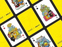 B.Duck小黄鸭 X ZCOOL站酷联名扑克设计