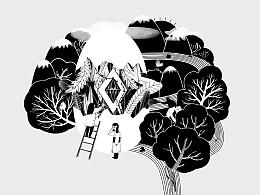 凤芝丹包装插画