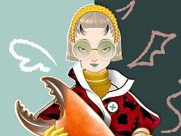 想吃螃蟹的心情
