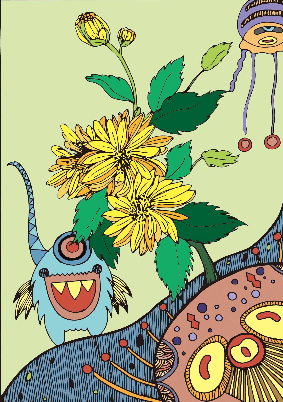 植物手绘插画