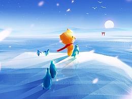 节气插画-大雪