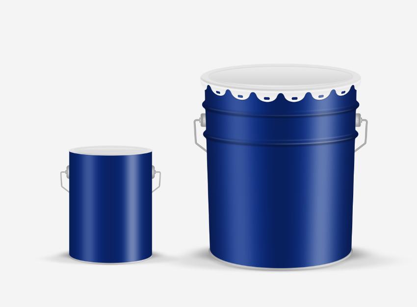 ps绘制涂料铁桶/梅州一米设计事务/|包装|平面|一米