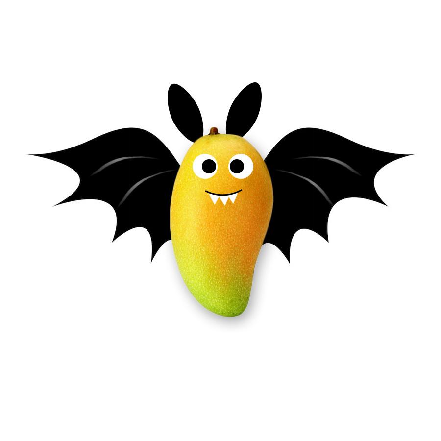 ps手绘 创意合成 搞笑,芒果蝙蝠