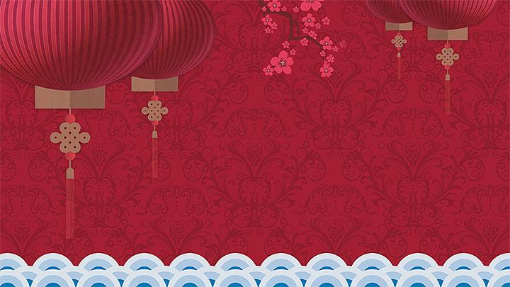 2016中国红贺卡方案PPT设计|剪纸|PPT/策划|李室内设计师培训平面演示图片