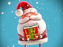 圣诞礼物:C4D制作一个实时渲染的圣诞老人
