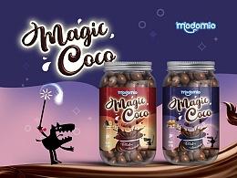 食品包装 - 马来西亚果仁夹心巧克力豆 - MAGIC COCO